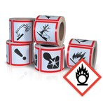 GHS Health Hazard Pictogram Label,  Oxidizing