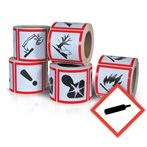 GHS Health Hazard Pictogram Label,  Compressed Gas