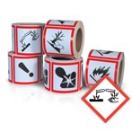 GHS Health Hazard Pictogram Label,  Corrosive