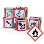 GHS Health Hazard Pictogram Label,  Flammable