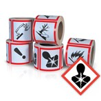 GHS Health Hazard Pictogram Label, Health Hazard