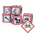 GHS Health Hazard Pictogram Label,  Toxic