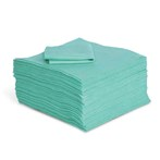 "Commander Heavy Weight 15"" x 19"" Universal FineFiber Green Absorbent Mat, 100s"