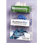 No-Spill Exam Glove Dispensing Wire Rack, 3 Boxes
