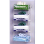 No-Spill Exam Glove Dispensing Wire Rack, 4 Boxes