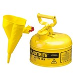 Justrite® Type I Steel Safety Cans w/ Funnels, Diesel Fuel, 1 Gallon