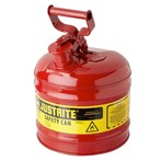 Justrite® Type I Steel Safety Can, Flammables, 2 Gallons
