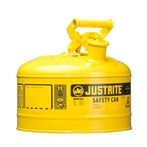Justrite® Type I Steel Safety Cans, Diesel Fuel, 2 1/2 Gallons