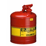 Justrite® Type I Steel Safety Can, Flammables, 5 Gallons