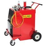 Fuel Chief Steel Pro Gas Caddy with Air-Operated Pump, 30 Gallons