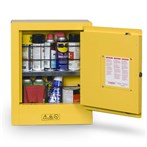 Justrite Mini Sure-Grip® EX Yellow Flammable Safety Cabinet, Aerosols