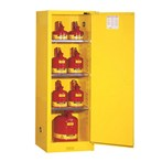 Justrite® Sure-Grip® EX Slimline Safety Cabinets, Flammables, 22 Gallon, Yellow