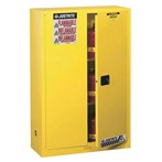 Justrite® Sure-Grip® EX Safety Cabinets, Flammables, 45 Gallon, Yellow