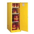 Justrite® Sure-Grip® EX Slimline Safety Cabinets, Flammables, 54 Gallon, Yellow