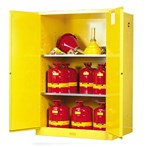 Justrite® Sure-Grip® EX Safety Cabinets, Flammables, 90 Gallon, Yellow