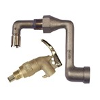 Justrite Brass Drum Siphon Adapter with Faucet
