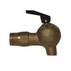 "Justrite 3/4"" Brass Control-flow Lab Safety Faucet"