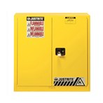 Justrite 20-Gallon Wall-mount Sure-Grip® EX Safety Cabinet, Flammables, Yellow