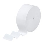 Scott KCC07005 2300' 12 Rolls/Case Coreless Jumbo Roll 1-Ply White Bathroom Tissue