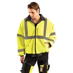 OccuNomix LUX-ETJBJ  ANSI Class 3 Safety Value Bomber Jacket, Lime