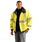 Occunomix LUX-TJBJ ANSI Class 3 Premium Four-way Original Bomber Jacket, Lime