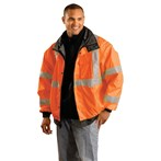 Occunomix LUX-TJBJ ANSI Class 3 Premium Four-way Original Bomber Jacket, Orange