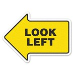 "Safety Floor Sign, Anti-slip – ""LOOK LEFT"""