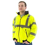 Majestic 75-1301 ANSI Class 3 High-visibility Waterproof Winter Bomber Jacket, Lime