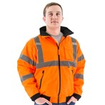 Majestic 75-1302 ANSI Class 3 High-visibility Waterproof Winter Bomber Jacket, Orange