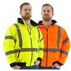 Majestic CSA ANSI Class 3 High-Visibility  Fleece-Lined Bomber Jacket, Lime