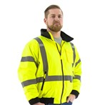 Majestic  75-1331 CSA ANSI Class 3 High-visibility  Fleece-lined Bomber Jacket, Lime