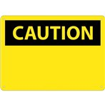 CAUTION (header only) Sign
