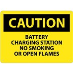 CAUTION Battery Charging Station: No Smoking or Open Flames