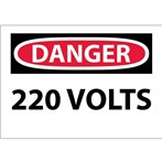 DANGER 220 Volts Sign