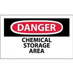 DANGER Chemical Storage Area Label