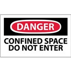 DANGER Confined Space: Do Not Enter Label
