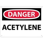 DANGER Acetylene Sign