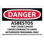 DANGER Asbestos May Cause Cancer... Sign
