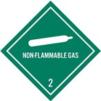 DOT Non-Flammable Gas Label, Class 2