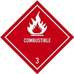 DOT Combustible Label, Class 3