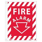 "Fire Alarm Flanged Sign, 9"" x 12"""