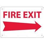 Fire Exit Arrow Signs