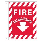 "Fire Extinguisher Flanged Sign, 9"" x 12"""