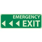 Emergency Exit Signs (with left arrows)