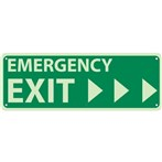 Emergency Exit Signs (with right arrows)