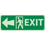 Exit Signs (with left arrow and graphic)