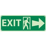 Exit Signs (with right arrow and graphic)