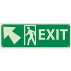 Exit Signs (with left up arrow and graphic)