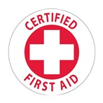 """Certified First Aid"" Hard-hat Emblem"