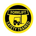 """Forklift Safety Trained"" Hard-hat Emblem"
